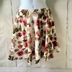 NWT Windsor Cream and Dusty Rose Circle Skirt